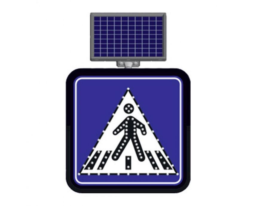 Solar Flaşörlü Ledli Trafik Levhaları 11838 FL