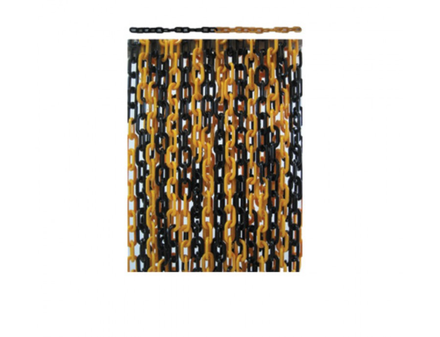 Koni/Delinatör/Dikme Aksesuarlar 129 A sarı siyah plastik zincir-25m